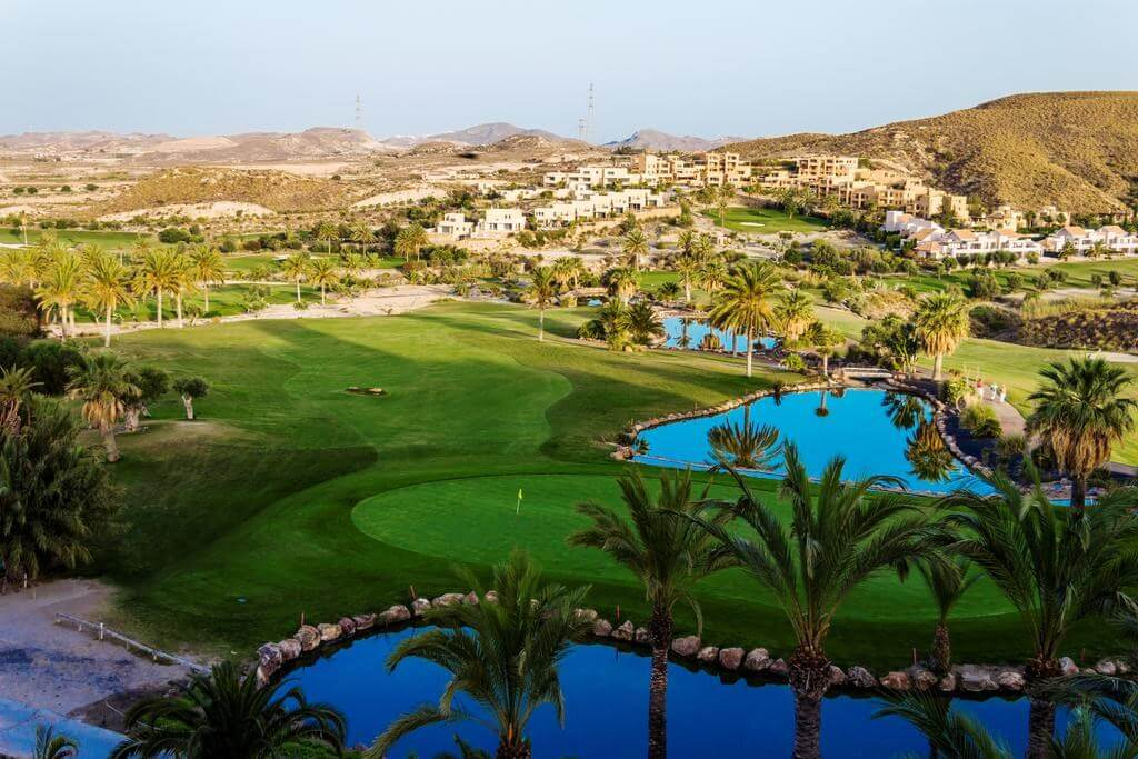 Which UK airports serve Golf Holidays in Spain?